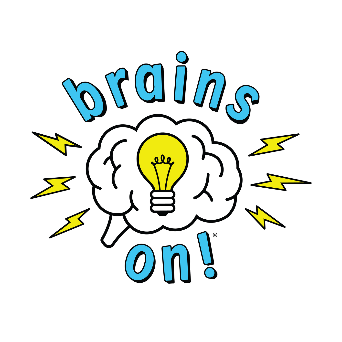 Brains On! podcast logo