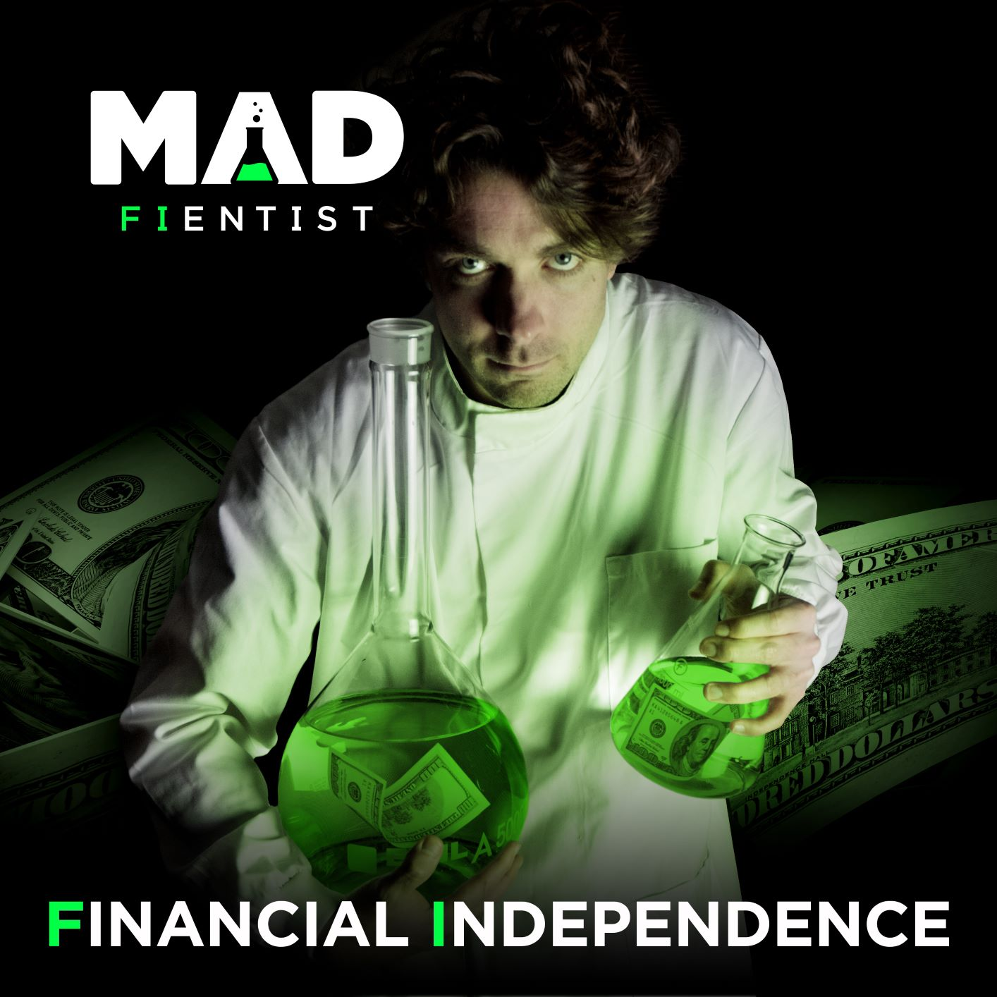 Financial Independence Podcast by The Mad Fientist logo
