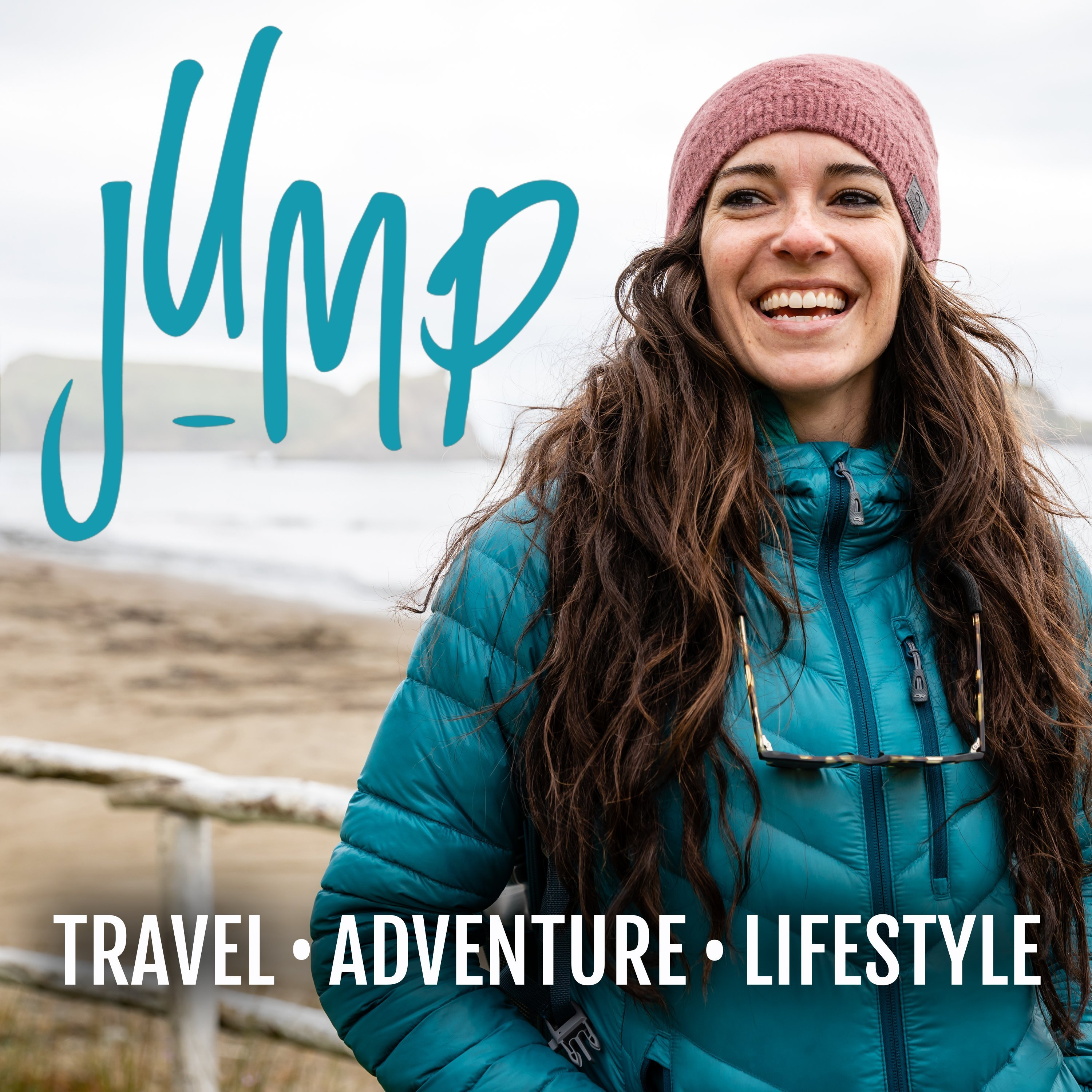 JUMP with Traveling Jackie travel podcasts logo