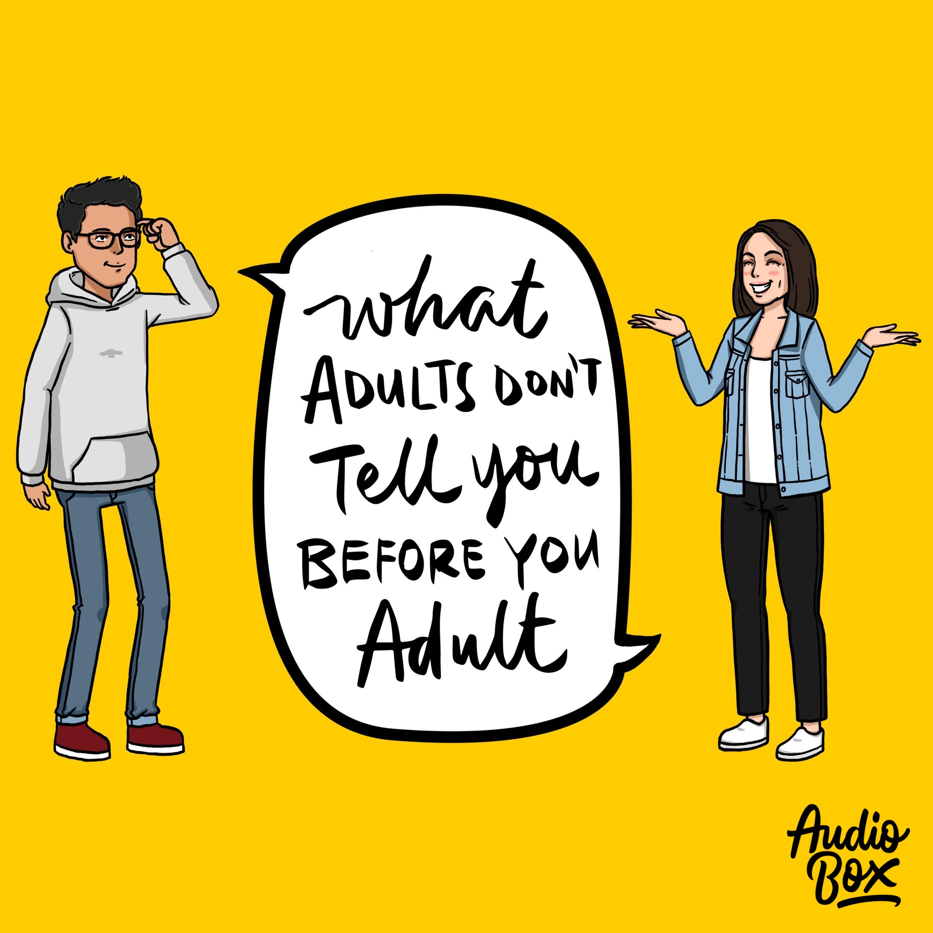 What Adults Don't Tell You Before You Adult podcast logo