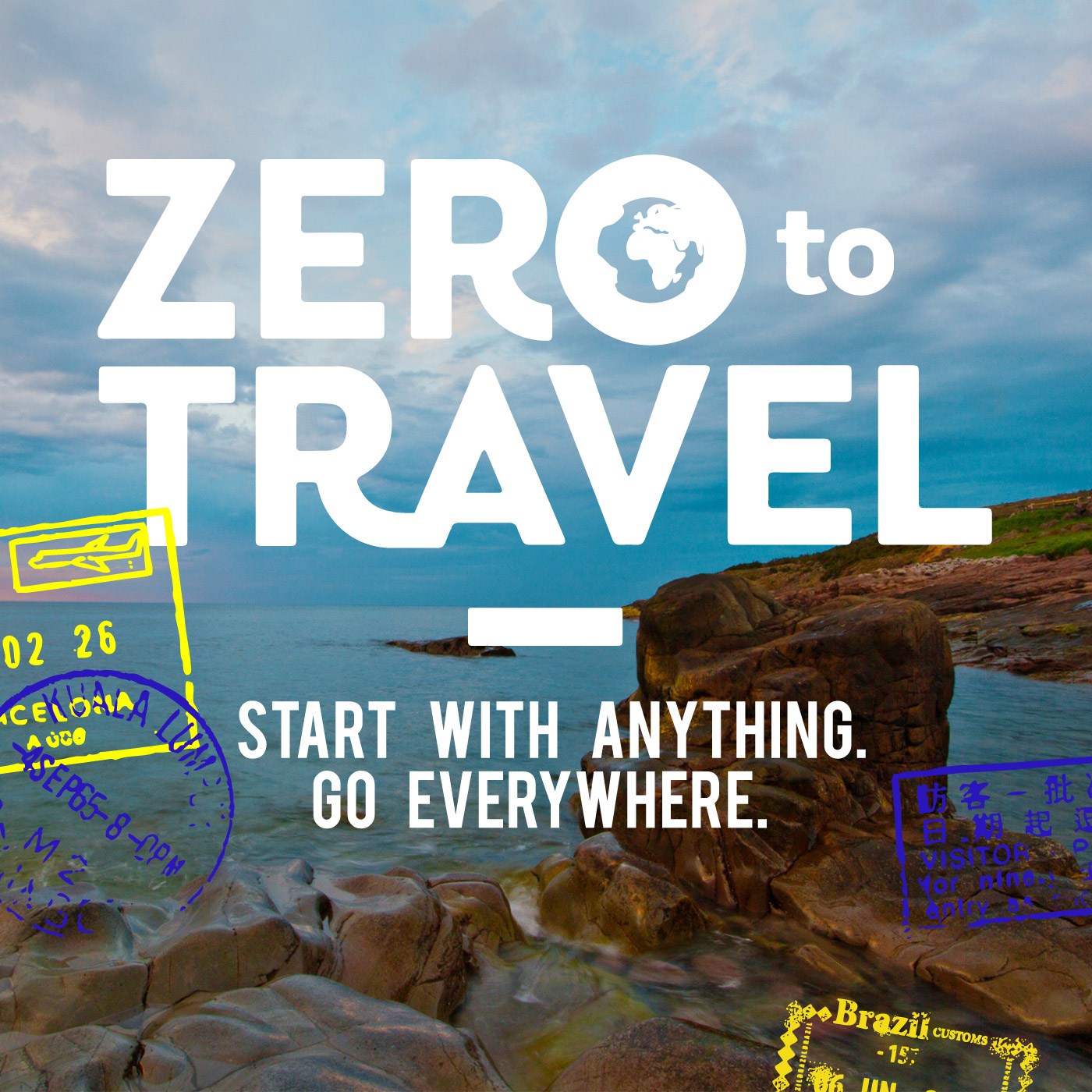 Zero to Travel podcasts logo