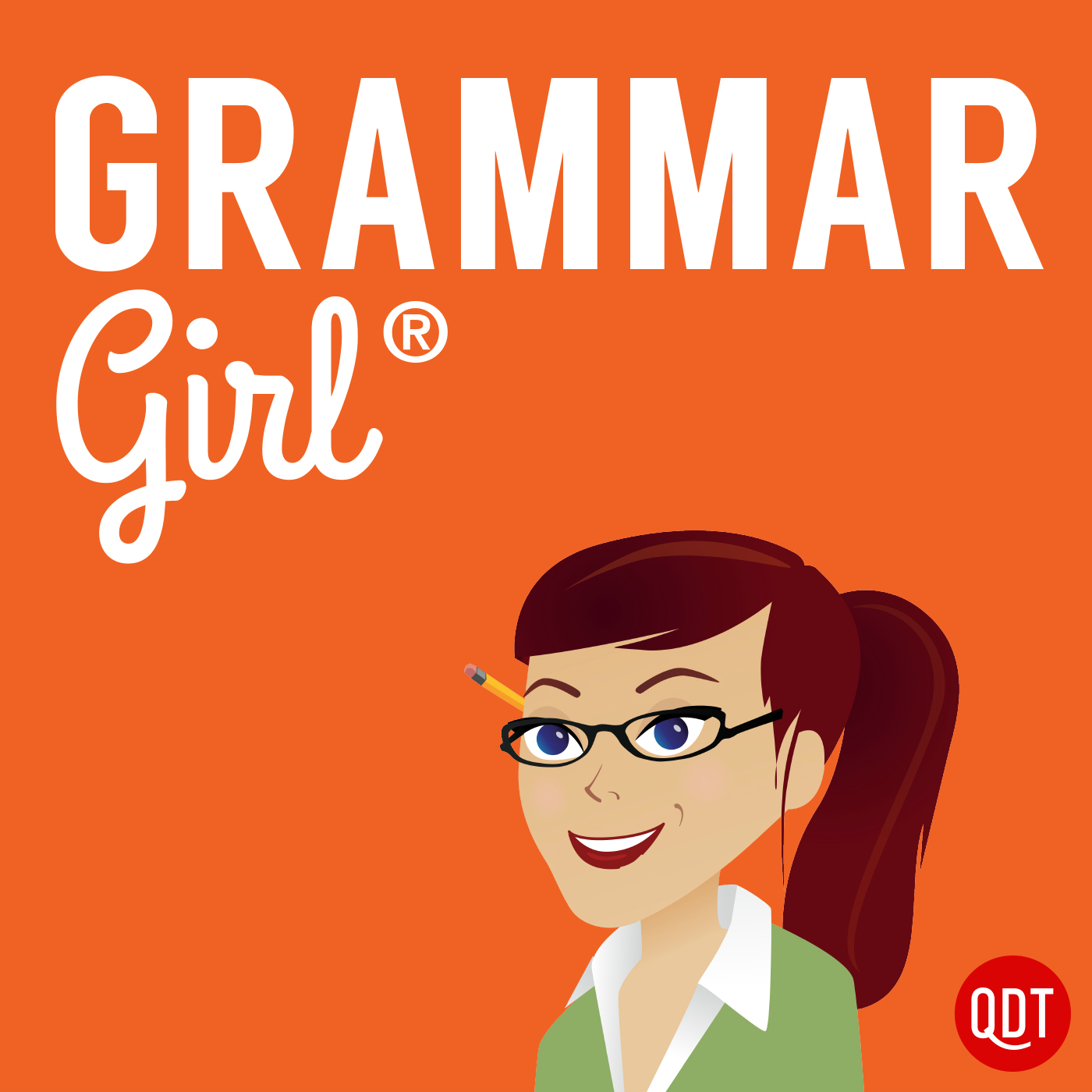 Grammar Girl Quick and Dirty Tips for Better Writing podcast logo