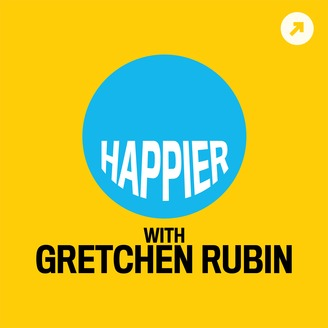 Happier with Gretchen Rubin motivational podcast logo