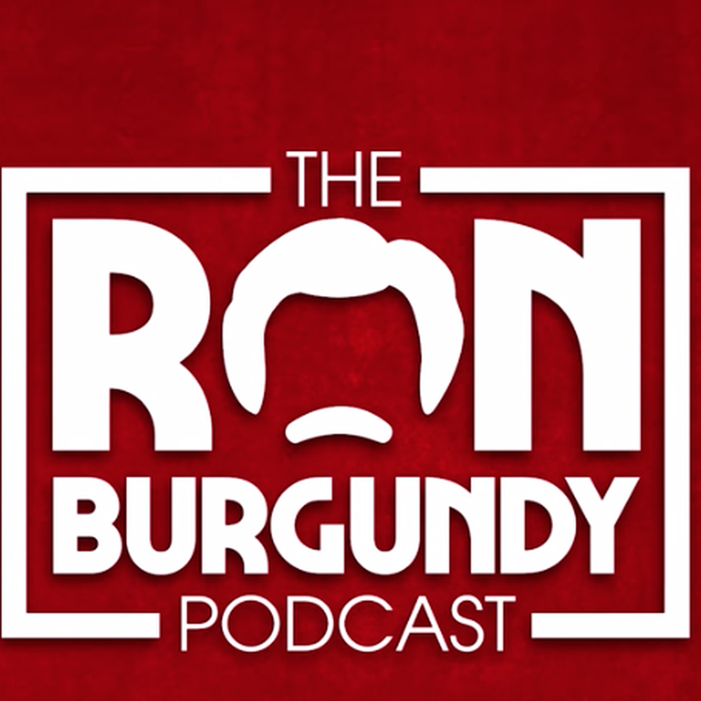 Ron Burgundy podcast logo